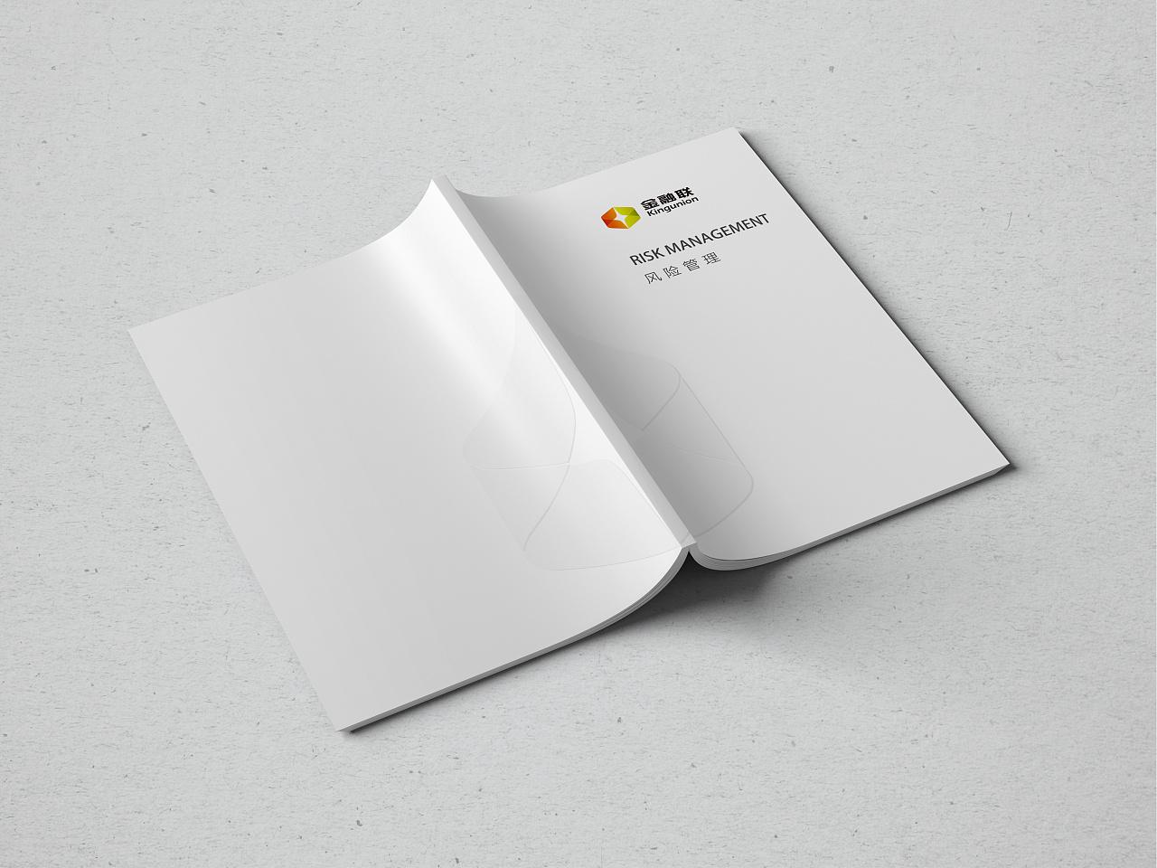 金融联画册设计